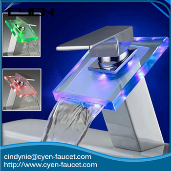 Add To Factory Fancy Design Chrome Led Copper Saving Water Single ...