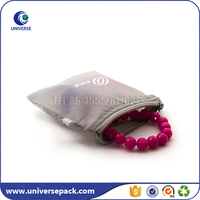 Transparent small white mesh zipper bag for jewelry