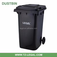 trash container outdoors waste can 240l plastic rubbish bin