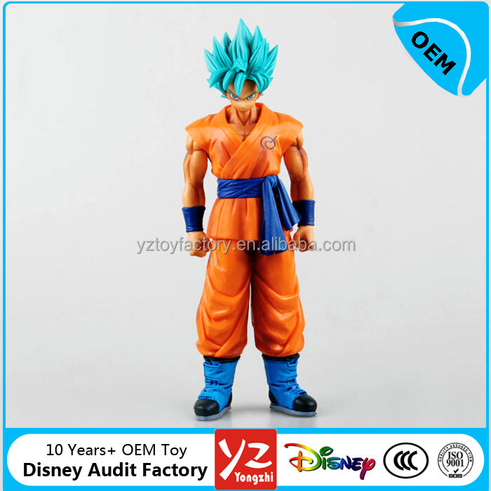 OEM Hot Japanese Anime 3d Dragon Ball Z pvc figurine for sale, Super Saiyan pvc figures Goku