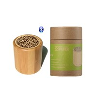 Eco-friendly portable wireless hifi sound speaker, mini wood speaker with LED, woofer speaker
