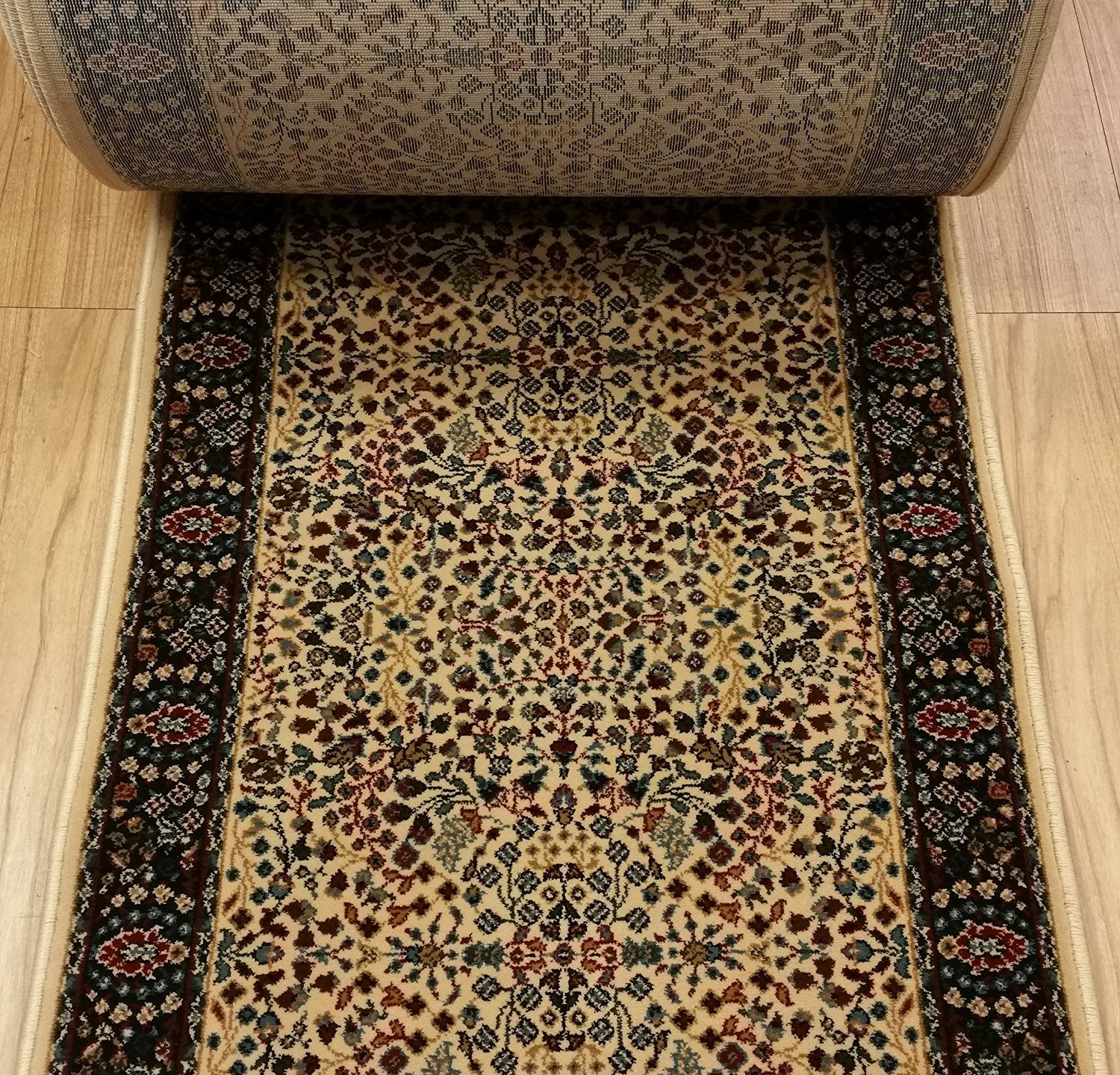 """Couristan CB74//B001A Beige Rug Depot Hall and Stair Runner Remnants 31/"""" Wide"""