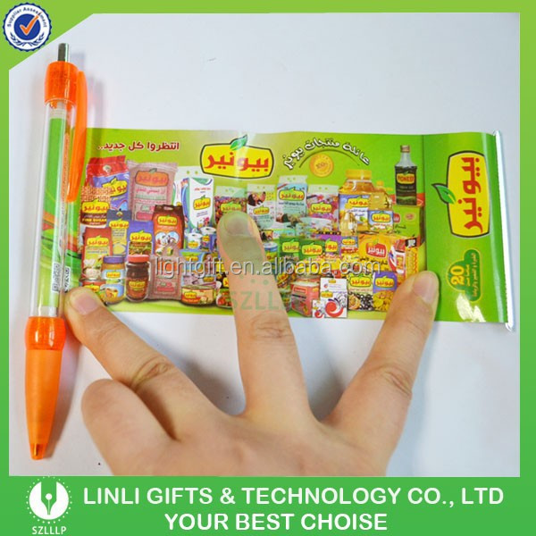 Promotional Advertising Gifts Retractable Plastic Banner Pens