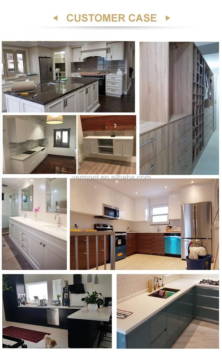2018 Red Colorful Modern Kitchen Cabinet Hotel Kitchen