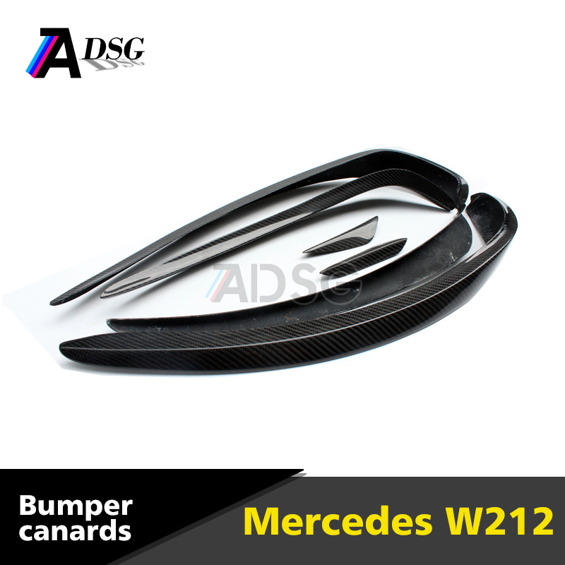 Carbon fiber air canards front splitter for Mercedes E class W212 w/ AMG package