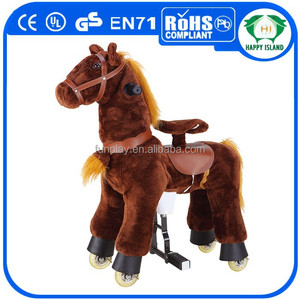 HICE, EN71 PU wooden rocking horse toy ,ride on horse,ride on horse toy