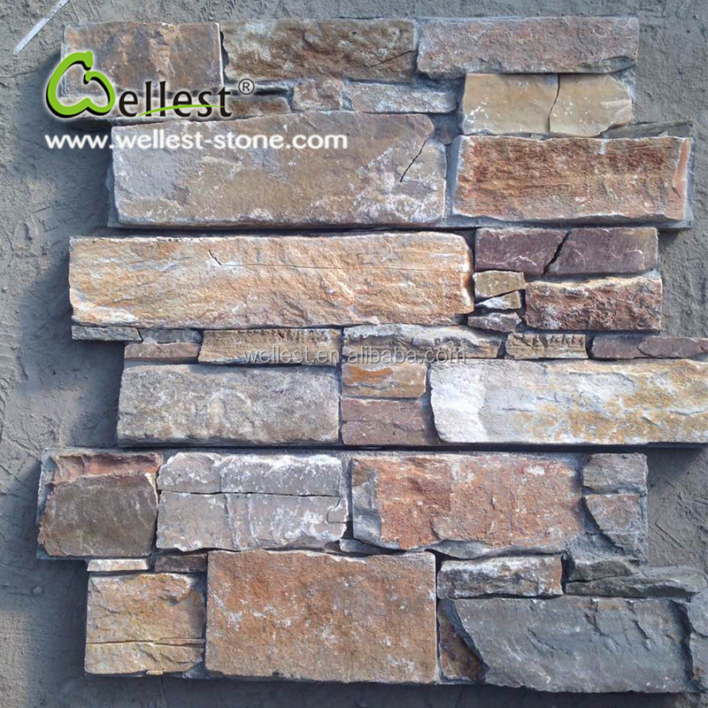 Random Style Natural Surface Rusty Slate Cement Base Culture Stone