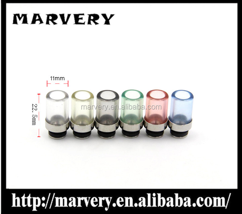 2017 E cigarette hot sellingThe Glass 510 Drip nozzle/high 22.5mm drip Nozzle/big caliber 11mm drip nozzle/in stock