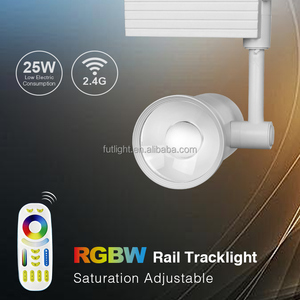 Mi.light 2/4 wires wireless tracklight 25w rgbw color changing led rail track lighting