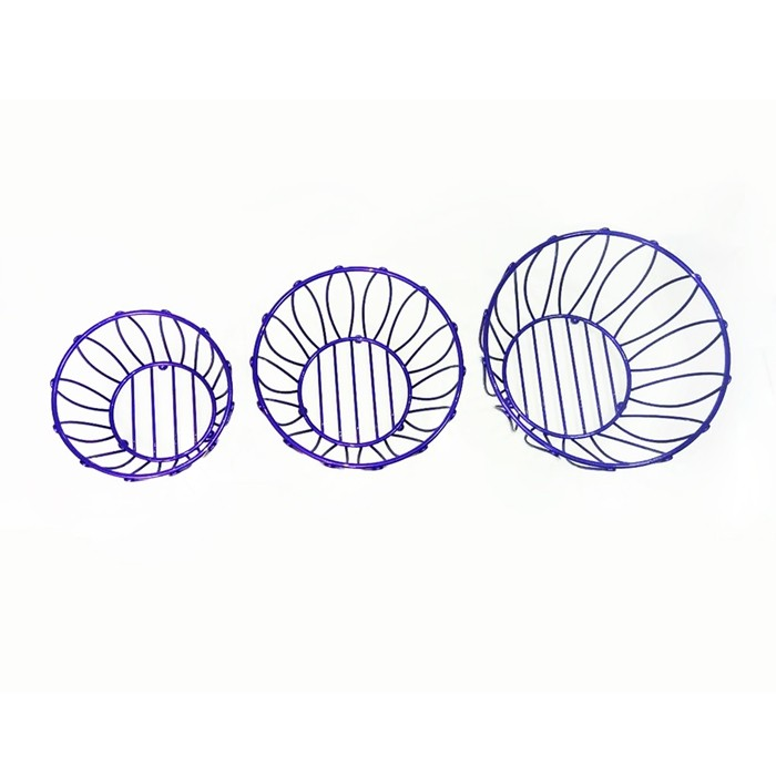 Eco-Friendly Stainless Steel Wire Bread Fruit Basket