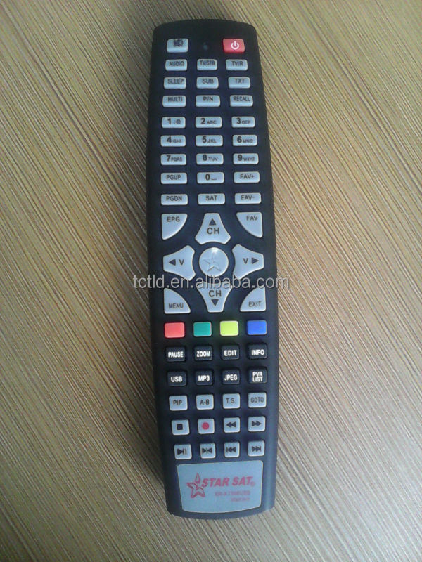 LCD TV universal remote control for AUDIO STB SET TOP BOX SAT satellite receiver with USB & MP3 fuction