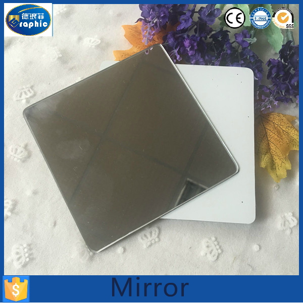 Domestic flexible glass ford edge mirror with round corner