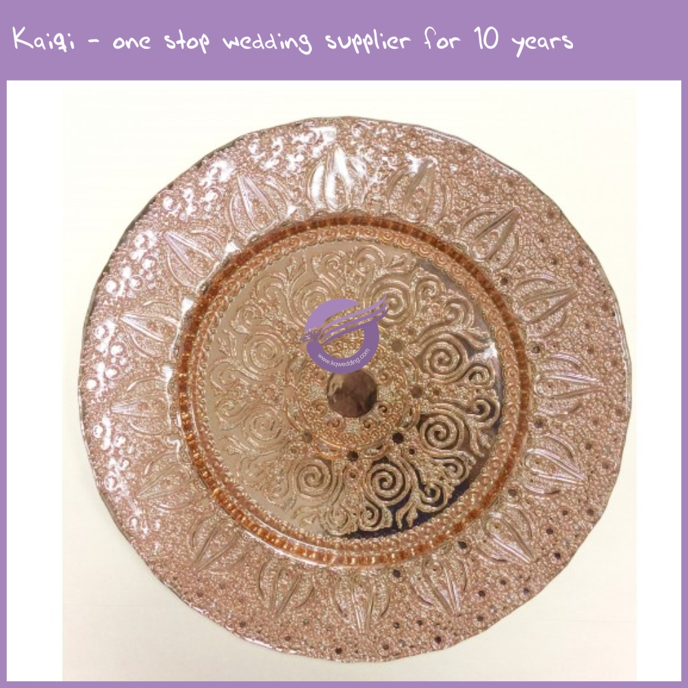 Pz00740 Fancy New Wedding Vintage Blush Pink Charger Plates
