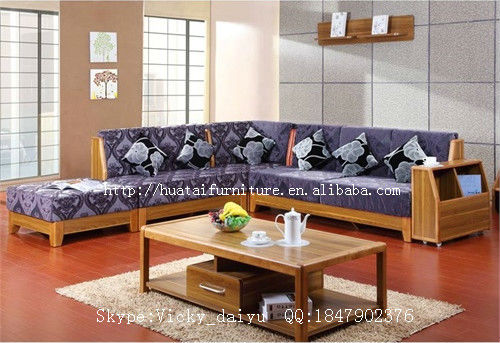 solid wood sofa living room furniture fabric comfortable l shaped