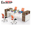 Mdf 4 person double workstation call center 4 people office desk partition