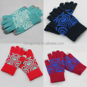 2014 Best Wholesale Promotional Cheap Cell Phone Screen Blue Light Winter Glove