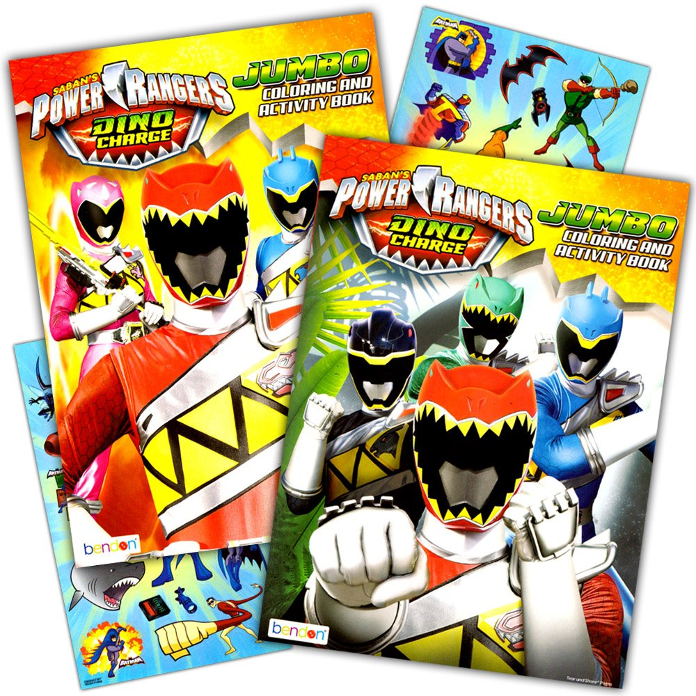 Get quotations · power rangers coloring book super set 2 coloring and activity books and over 50