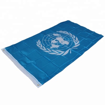 3x5ft polyester printing United Nations flag outdoor flying UN flag