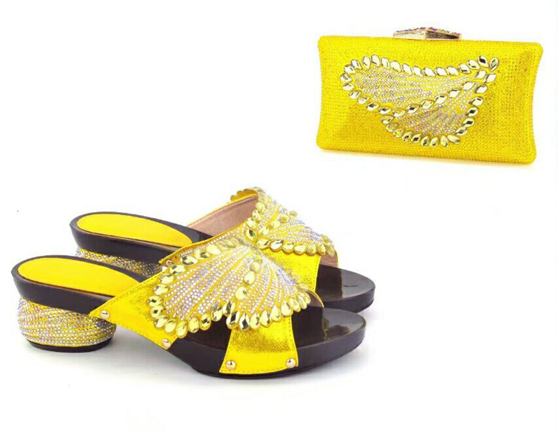 bags in shoes High shoes matching and yellow Haniye bag Italian ladies quality zFtxdvx