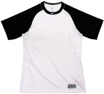 36e3291ee Get Quotations · Nike 429603 Pro Combat Fitted Short Sleeve MLB Top - White  Black