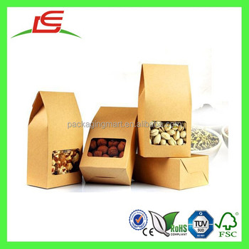 Q1200 China Wholesale Kraft Paper Snack Container,Nuts Package Box ...