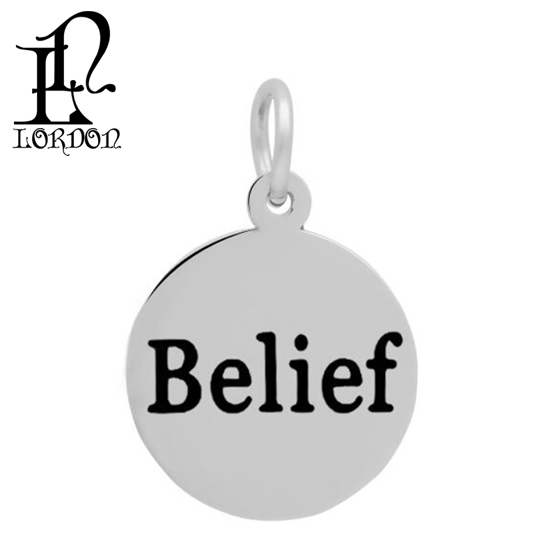 New Design Elegant Hand Stamped Engraved Belief Meaningful Inspirational Pendants