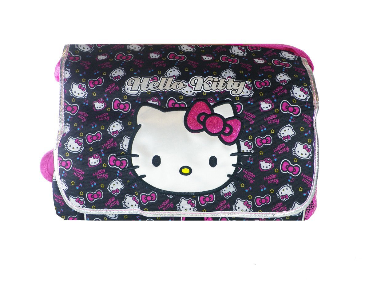 210127031 Get Quotations · Black and Pink Face Hello Kitty Messenger Bag - Hello  Kitty Laptop Bag