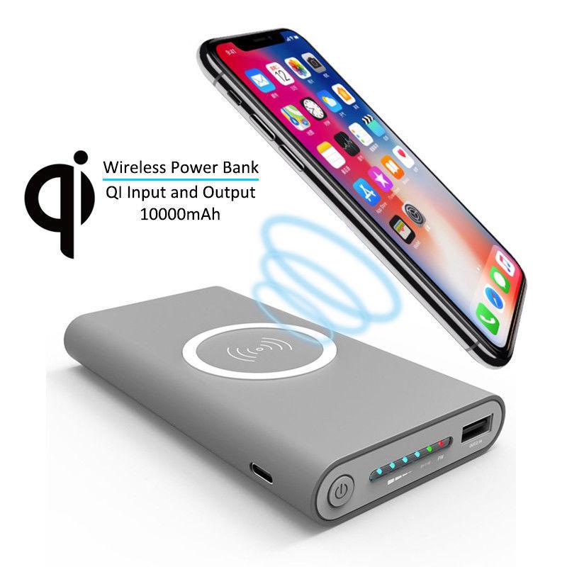 Универсальный литиевый аккумулятор Портативный Мобильный Внешний аккумулятор 10000 мАч rohs тонкий беспроводной внешний аккумулятор для iphone для samsung