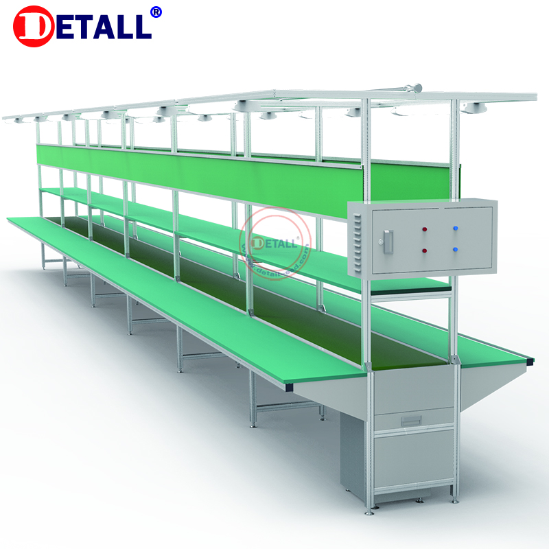 Detall- lcd TV assembly line/production conveyor line