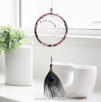 dream cathcer peacock,decorative Indian feather dreamcatcher ornament(SWTPR1565)