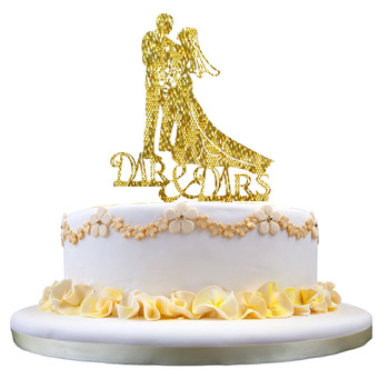 Wholesale Custom Porcelain Mirrored Gold Bride And Groom Engagement Funny Wedding Cake Topper Buy Funny Wedding Cake Topper Wedding Cake