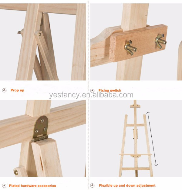cheapest price portable mini easel custom different size wood easel