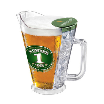top quality 1500ml acrylic beer jug with ice cooler buy beer jug