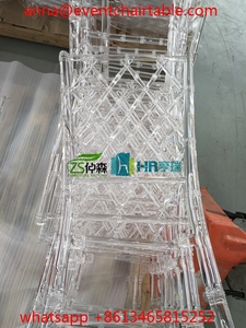 Unassembled Knock Down Plastic Resin PC Clear Tiffany Chiavari Chair