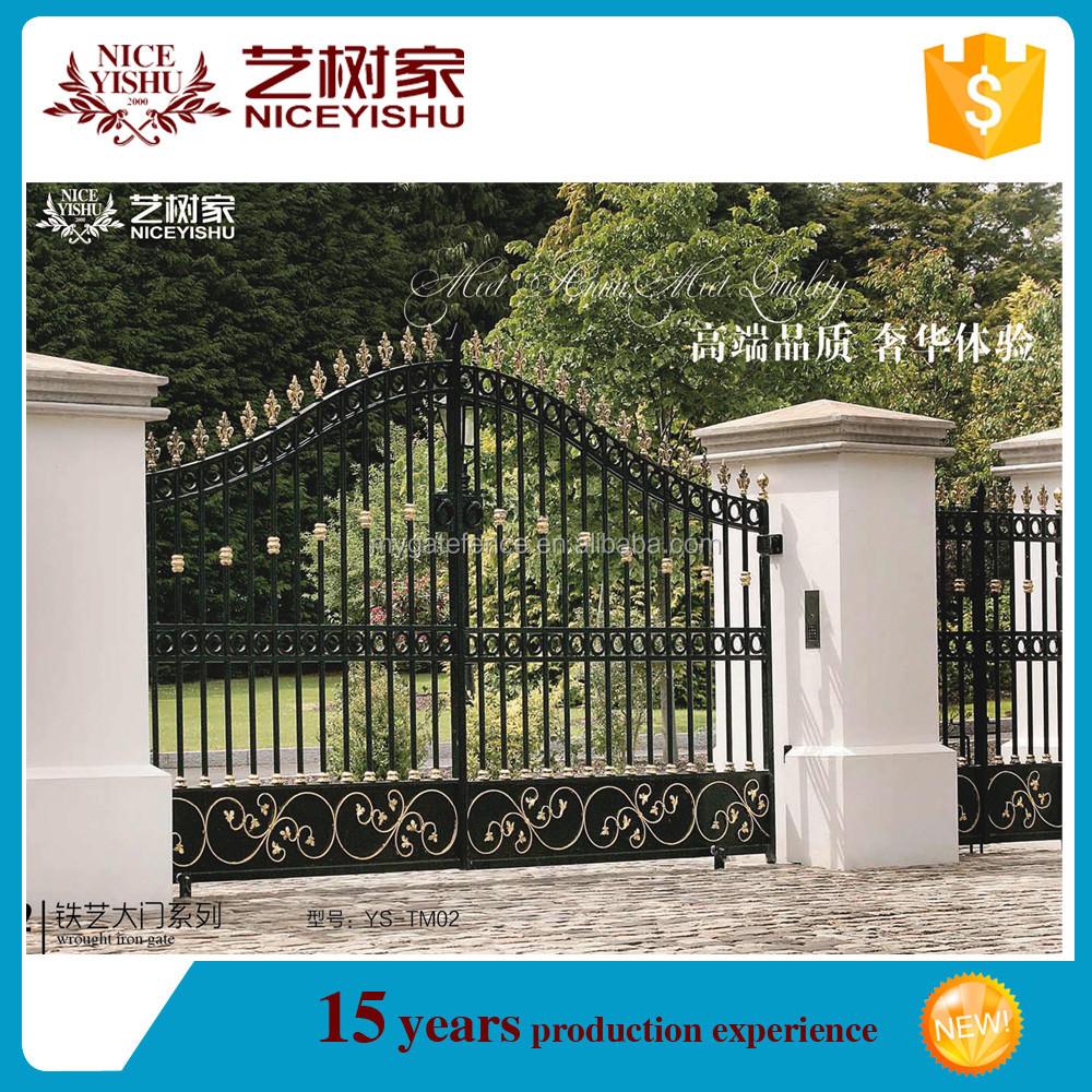 Latest wrought iron villa gate designs garden arch wrought for Latest arch designs