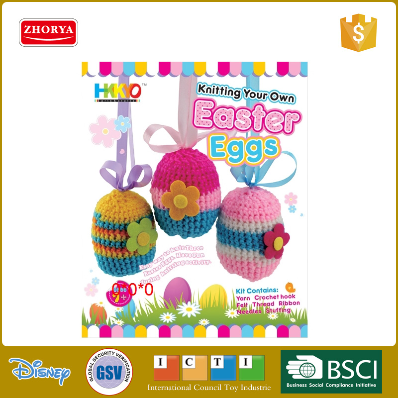 Ages 7+ knitting toys easter eggs soft and comfortable knitting wool DIY easter eggs toys
