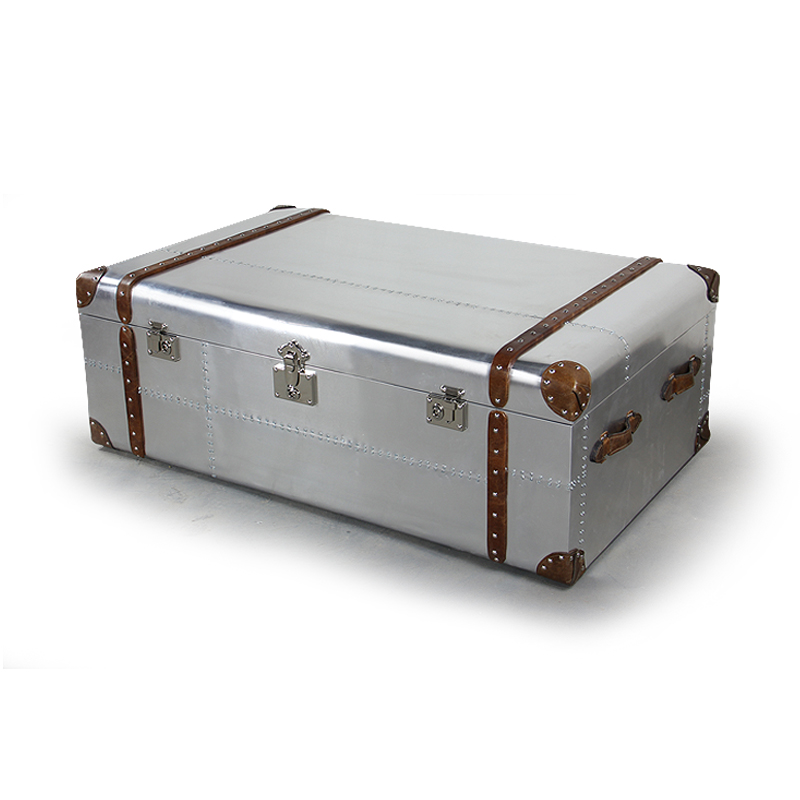 Home Furniture Multi Function Large Storage Aluminum Trunk Coffee Table