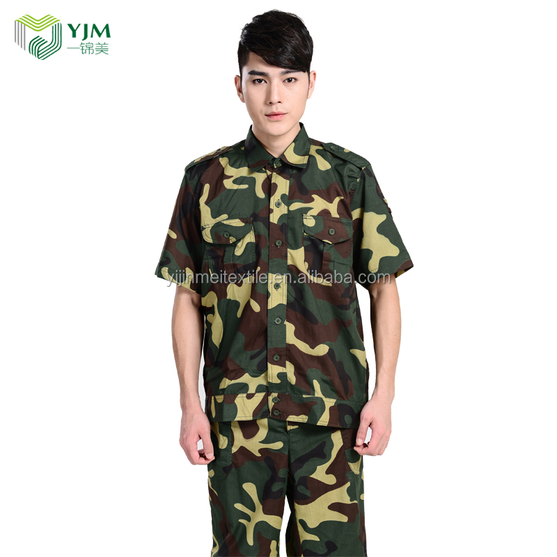 Factory low price custom ground force army camo t-shirt with pants