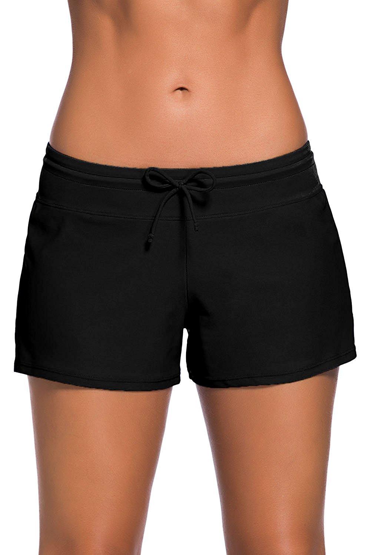 5d24ee23739c4 Get Quotations · Lacoco Women Beach Board Shorts Boy Short Pants Plus Size  Tankini Bottom Swimwear Short