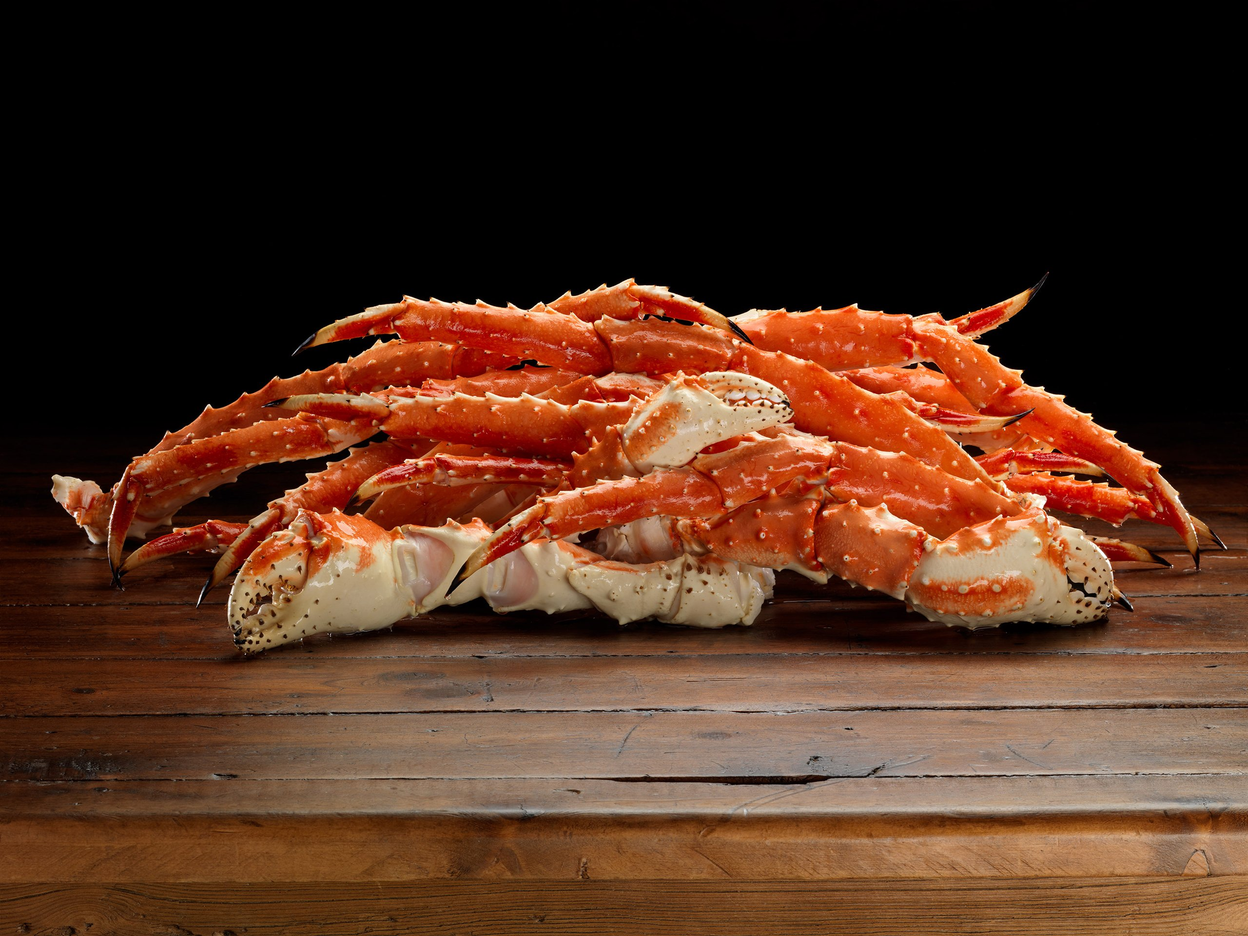 Crab King Red Legs & Claws Individual Quick Frozen, 20 Lbs 32 To 40 Per Case…