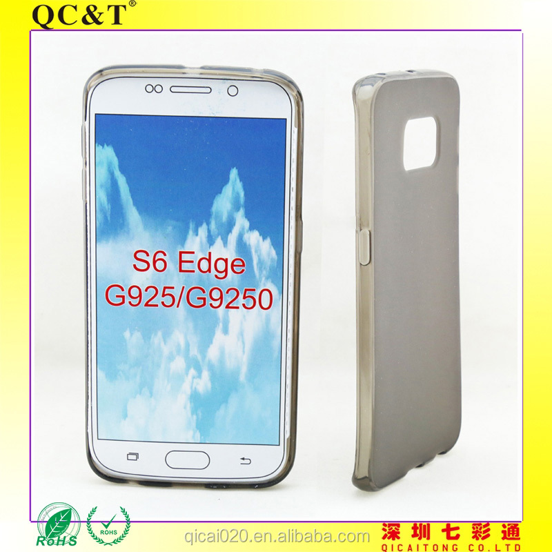 Hot sale TPU case for samsung galaxy S6 edge G925 on CHina alibaba