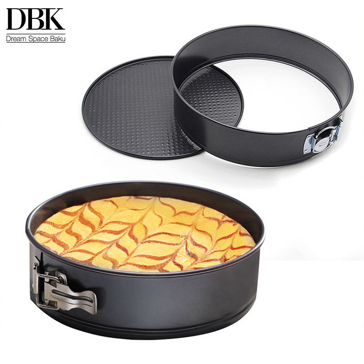 Wholesale price 9 inches Nonstick metal PP bag Kraft box Carbon steel + Whittford bakery round non stick cake baking tray