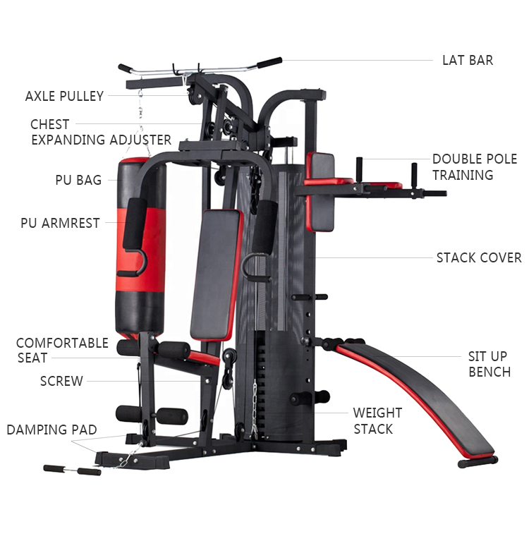 Alta Qualidade Multifuncional Total Body Building Home Gym Equipment