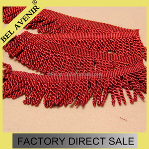 6cm widthWide Red Chainette Bullion Fringe Trim,Pillows Shawls
