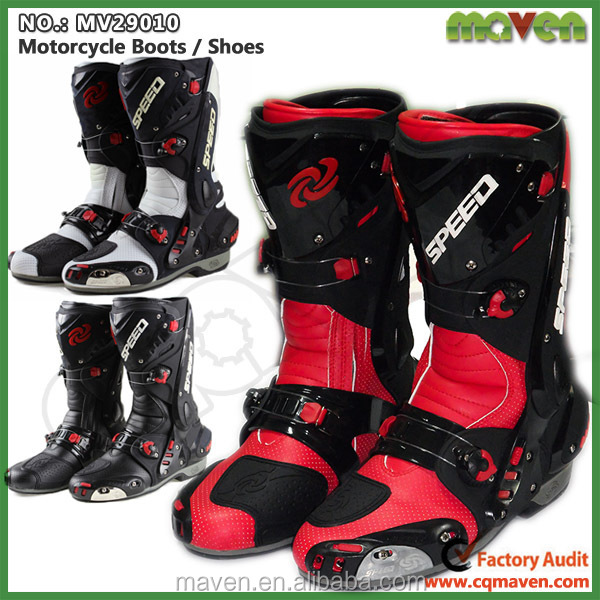Custom Made Motorcycle Boots Microfiber Leather Motorbike Touring Boot MV29010