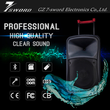 professional 12 inch subwoofer portable big bluetooth speaker trolley active disco speaker with rechargeable battery