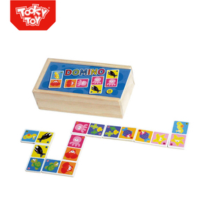 Educational Wooden Toys Marine Learn Domino Game