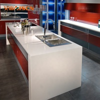 2019 modern red and grey lacquer kitchen cabinet with accessories