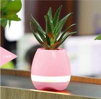Touch Bluetooth Flowerpot Wireless Speaker Mini Home Smart Plant Toy light music