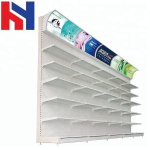 Supermarket Cosmetic supermarket wall shelves store shelves white with led light
